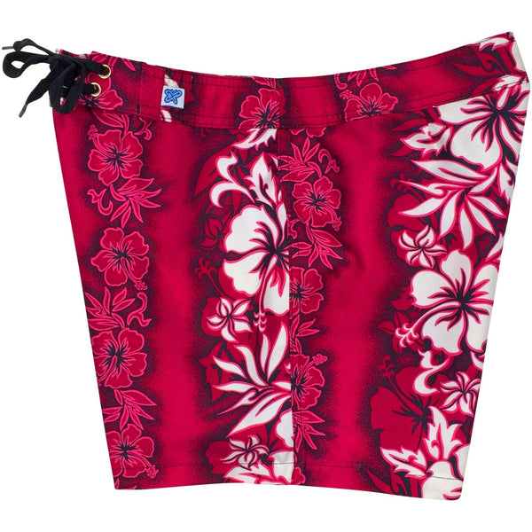 """Conga Line"" Board Shorts - Regular Rise / 5"" Inseam (Pink, Blue, Red or Charcoal) - Board Shorts World - 1"
