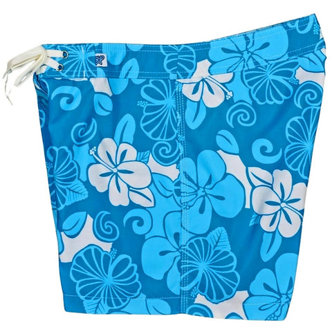 """Dream Girl"" Board Shorts - Regular Rise / 5"" Inseam (Blue)"