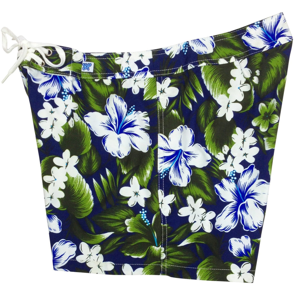 """Jungle Juice"" Board Shorts - Regular Rise / 5"" Inseam (Navy, Royal or Sky Blue) - Board Shorts World - 1"