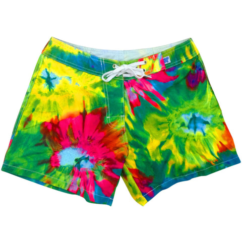"""Love 'n Haight"" Tie Dye Board Shorts - Regular Rise / 5"" Inseam - Board Shorts World"