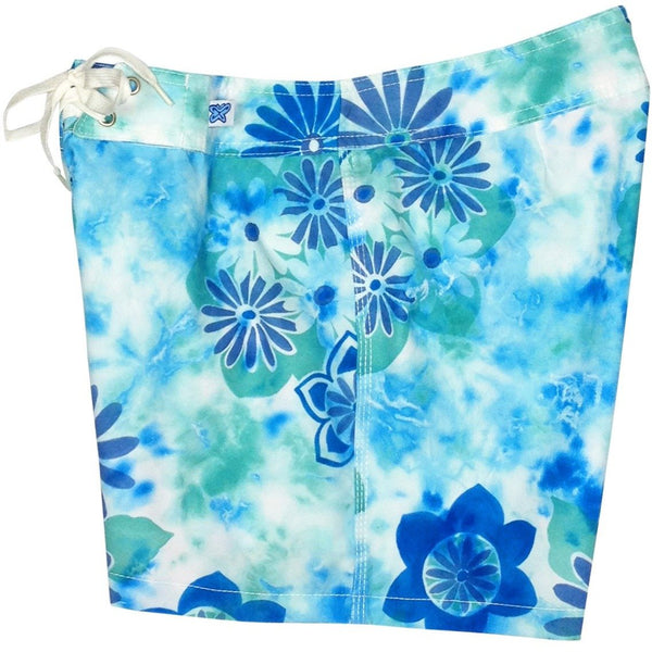 """Painted Desert"" Board Shorts - Regular Rise / 5"" Inseam (Aqua or Indigo) - Board Shorts World - 1"