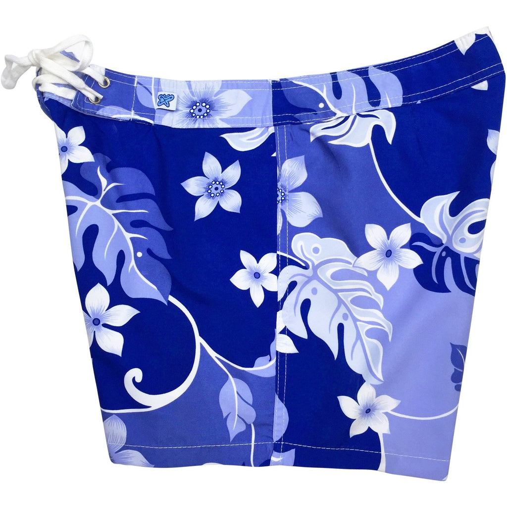 """Puzzled"" Board Shorts - Regular Rise / 5"" Inseam (Periwinkle) - Board Shorts World"