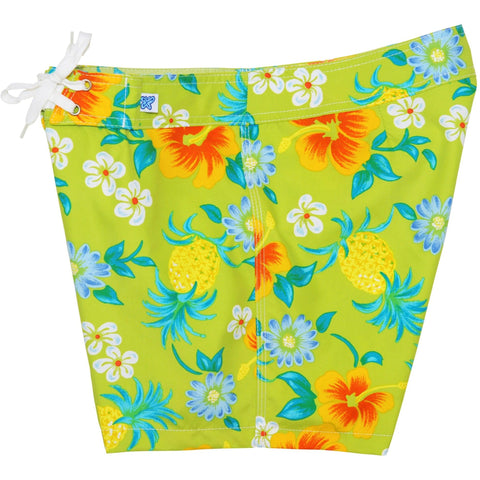"""Sangria"" Board Shorts - Regular Rise / 5"" Inseam (Green, Black, Orange, Blue or Yellow) - Board Shorts World - 1"