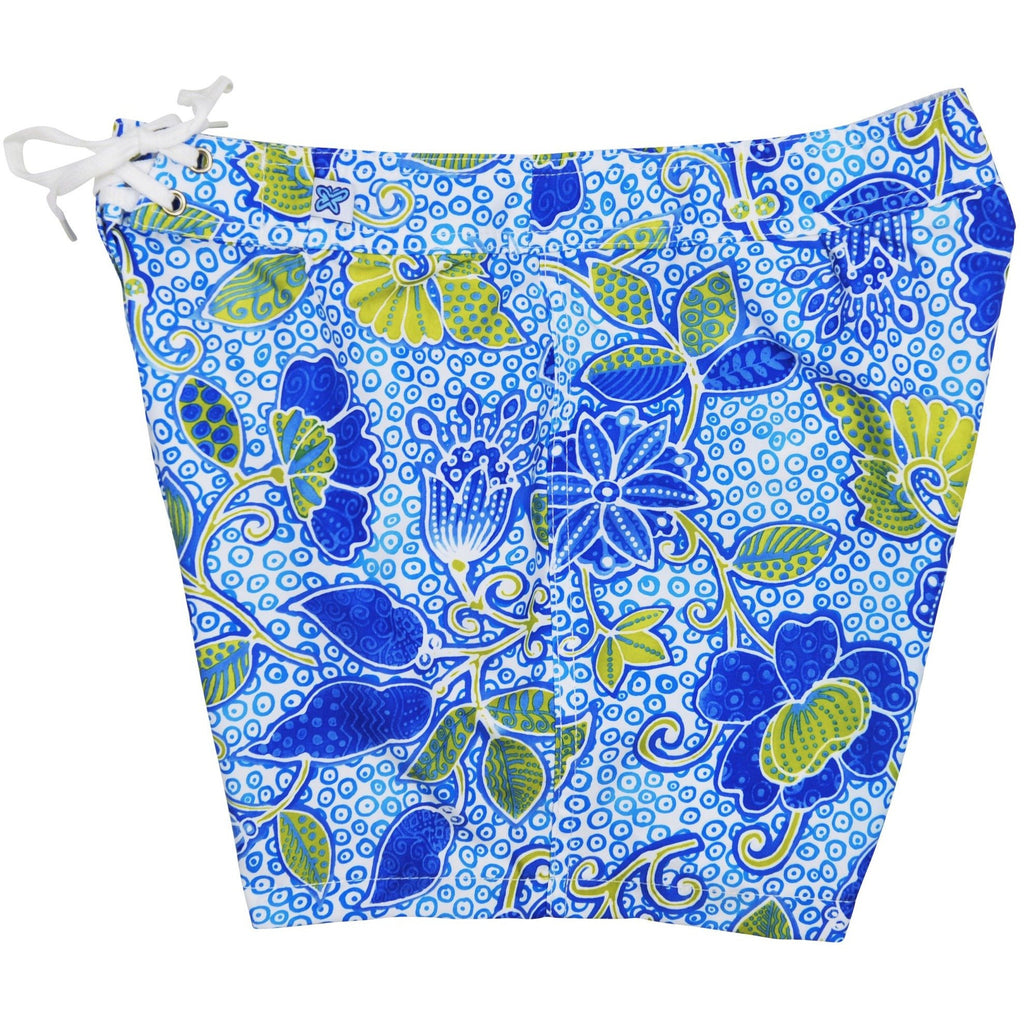 """Shore Thing"" Board Shorts - Regular Rise / 5"" Inseam (Blue) - Board Shorts World"