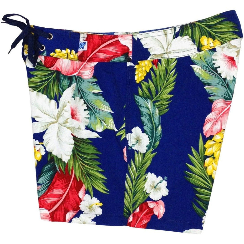 """Stranded"" Board Shorts - Regular Rise / 5"" Inseam (Blue or Red) - Board Shorts World - 1"