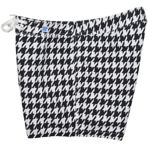 """Sweet Tooth"" Houndstooth Print Board Shorts - Regular Rise / 5"" Inseam - Board Shorts World - 2"