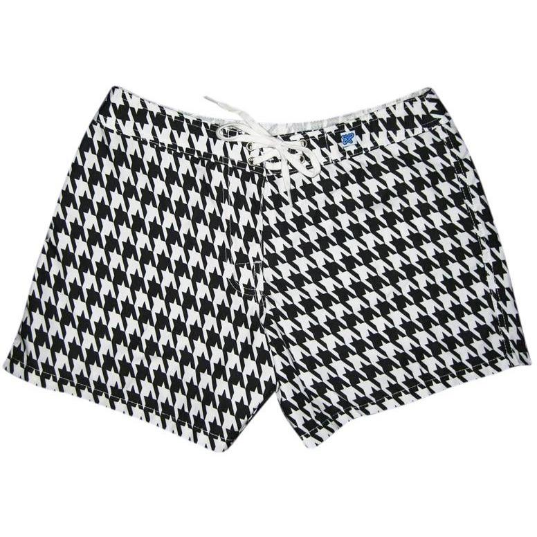 """Sweet Tooth"" Houndstooth Print Board Shorts - Regular Rise / 5"" Inseam - Board Shorts World - 1"