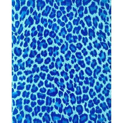 """Wild Weekend"" Animal Print Mens Swim Trunks (with mesh liner) - 22"" Outseam / 9.5"" Inseam (Blue) - Board Shorts World"