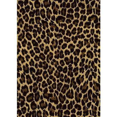 """Wild Weekend"" Cheetah Mens (6.5"" Inseam / 19"" Outseam) Swim Trunks (Brown) - Board Shorts World"