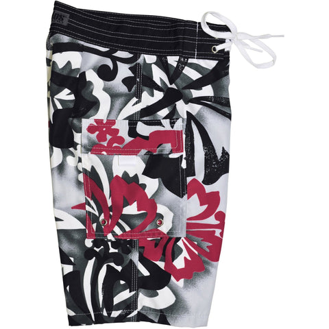 """Off to Baja"" Boys + Girls Board Shorts. 8"" Inseam / 18.5"" Outseam (Charcoal or Blue) - Board Shorts World - 1"