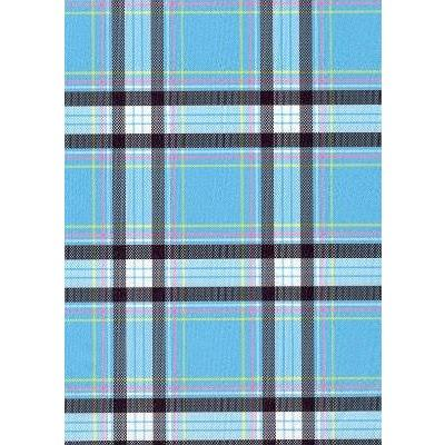 """Casual Friday"" Plaid (Blue) Womens Elastic Waist Swim Board Shorts. REGULAR Rise + 5"" Inseam - Board Shorts World"