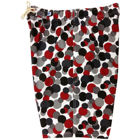 """Coin Toss"" Womens Elastic Waist Swim Board Shorts. HIGH Rise + 11"" Inseam (Black, Pink or Aqua) - Board Shorts World - 1"