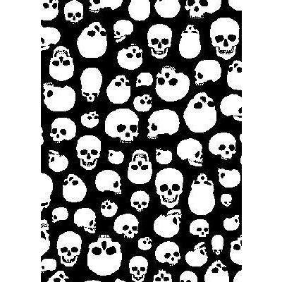 """Live to Ride"" Skulls Print Mens Swim Trunks (with mesh liner) - 17"" Outseam / 4.5"" Inseam (Black+White)"