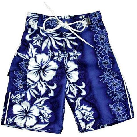 """Conga Line"" (Blue) Toddler Board Short"