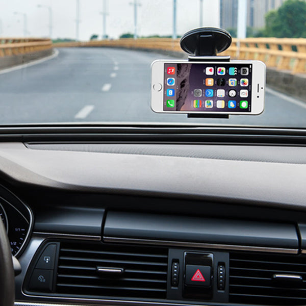 Visenta Universal Cradle Adjustable Windshield Holder / Car Phone Holder / Car Mount for iPhone,HTC, Motorola,Samsung, Google and Other Smart Phone