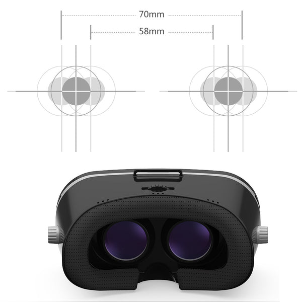 "Visenta VR Headset World First Compatible from Normal Eyesight upto High Myopia(Short Sightedness) -6.50D 3D Virtual Reality Glasses for Smartphones Video Movie Game Suitable Phone Size 4.0""-5.5"" Thickness Less Than 8mm"