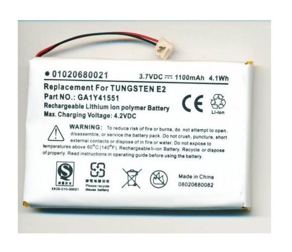 Palm Tungsten E2 Battery – New – 1100mAh Exceeds OEM Specs – Palmone GA1Y41551