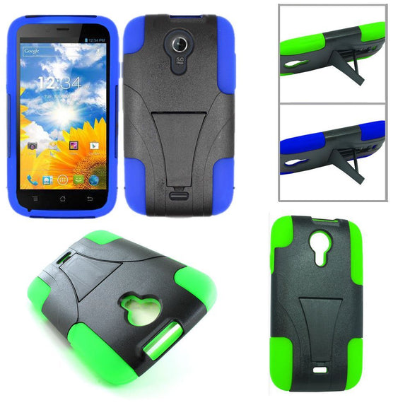 Hybrid Kickstand Case for BLU Studio 5.0 D530 - Rugged Heavy Duty Cover 2 Colors