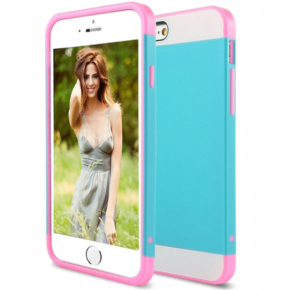Blue Pink Hard Case for Apple iPhone 6 & 6s - Shockproof Armor Hybrid Cover USA