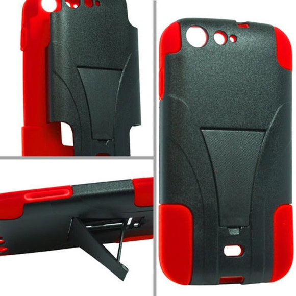 Red & Black BLU Life One L120 Hard Case - Hybrid Kickstand Heavy Duty Cover USA