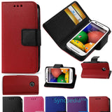 Wallet Flip Case for Motorola Moto E  1st Gen - Leather Like Kickstand Folio USA