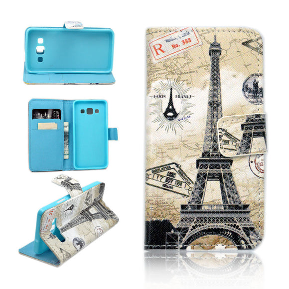 Eiffel Tower Wallet Case for Samsung Galaxy A3 2015 - Paris Kickstand Cover US
