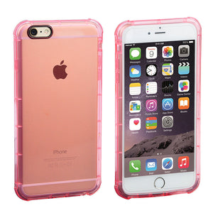 Pink Clear Gel TPU Case for Apple iPhone 6 - Soft Classy Ultra Thin Cover USA