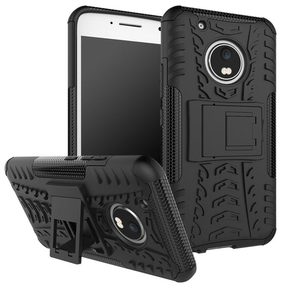 Black Kickstand Case for Motorola Moto G5 2017 - Grenade Grip Hybrid Rugged USA