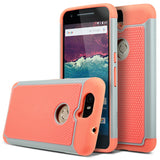 Pink Orange Hybrid Case for Huawei Google Nexus 6P - Rugged Hard Armor Cover USA