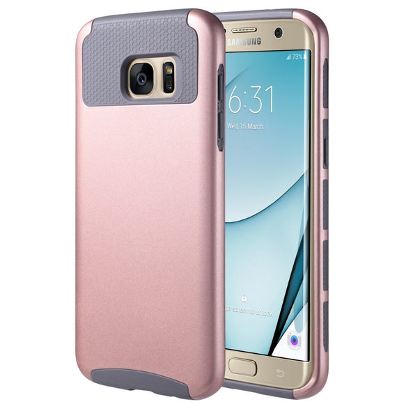 Pink Hard Case for Samsung Galaxy S7 edge - Heavy Duty Rugged Hybrid Cover USA