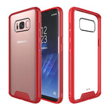 Red & Clear Hard Case for Samsung Galaxy S8+ / S8 Plus - Shockproof Heavy Duty