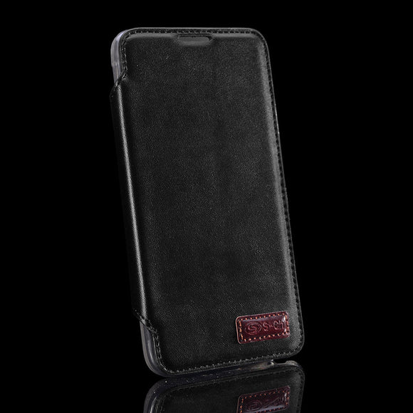 Black Flip Wallet for Samsung Galaxy Note 5 - Credit Card Slot Premium Holder US