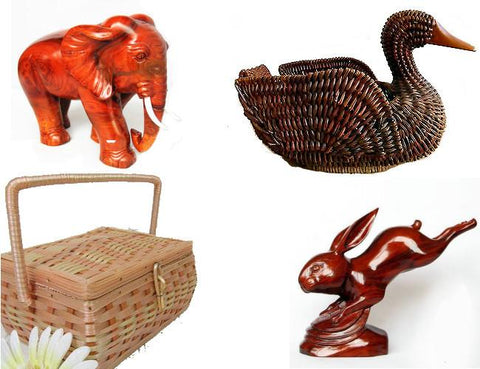 Collectibles: Wicker & Wood