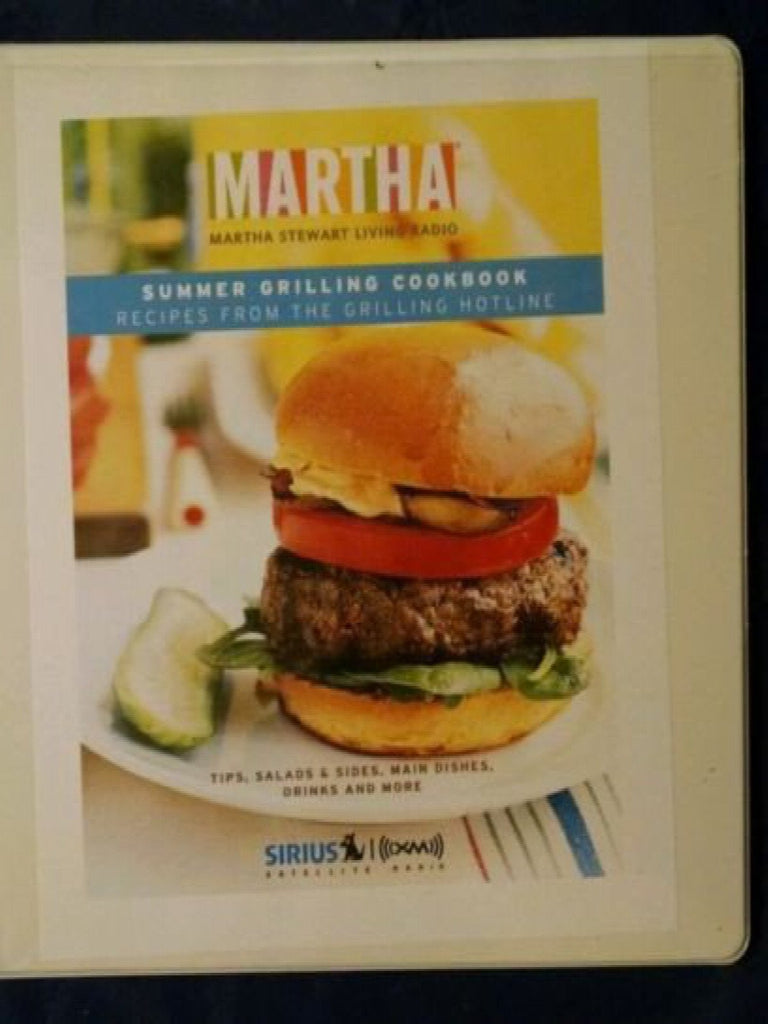 Martha Stewart Living Radio Grilling Hotline Cookbook 2010 1st Edition