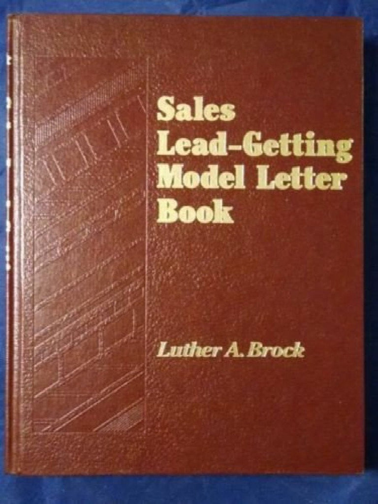 Sales Lead-Getting Model Letter Book by Luther A. Brock (1986, Hardcover)