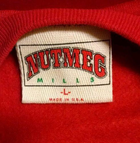 Vintage Nutmeg Mills Retro 80's Chicago Bulls NBA Basketball Club Sweatshirt L - Gramma-zon
