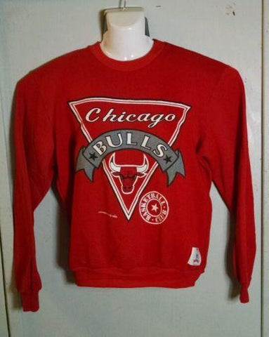 Vintage Nutmeg Mills Retro 80's Chicago Bulls NBA Basketball Club Sweatshirt L