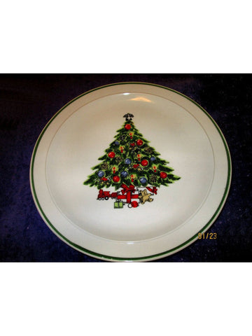 Pair (2) VINTAGE '83-'87 Mount Clemens Pottery Christmas Plate Action Industries
