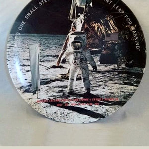 1969 NEIL ARMSTRONG Moon Landing...... ONE SMALL STEP Commemorative Plate By Texas Ware.