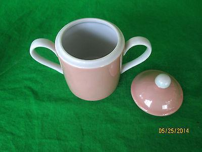 VINTAGE FITZ AND FLOYD - 1975 - RONDELET PEACH - SUGAR BOWL With LID & CREAMER - Gramma-zon