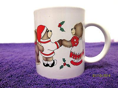 'Bear Hugs For Everyone' Teddies Collectable Mug Cup Christmas Holiday Coffee or