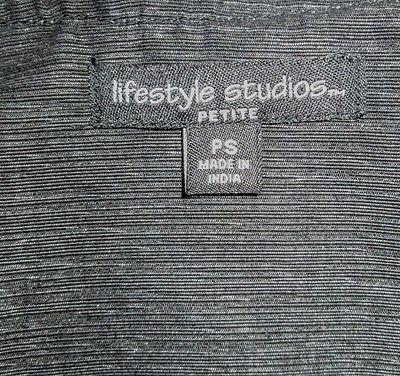 NWT Lifestyle Studios Dressy Evening Jacket Embellished Black Size PS