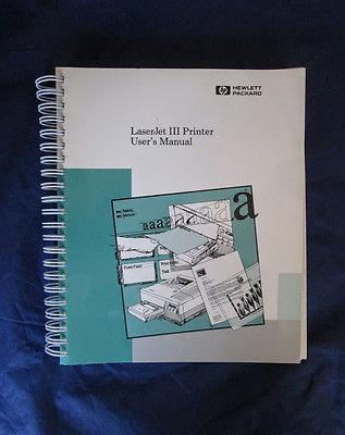 Hewlett Packard LASERJET III 3 USERS MANUAL E0290-1990