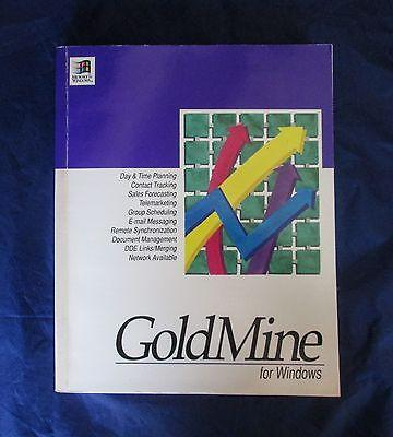 Rare Elan Software GOLDMINE for Windows 1994 Early Manual Version 2.5