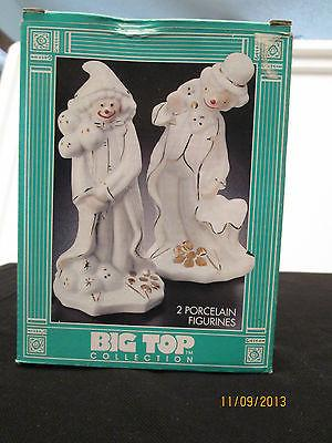 1993 Action Industries - Big Top Collection Porcelain Clowns Figurines