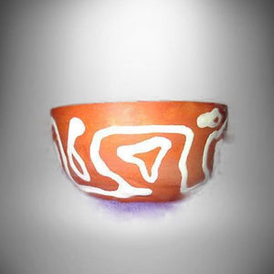 Art Pottery Red Clay Nut Candy Dish Bowl