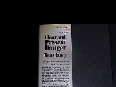CLEAR AND PRESENT DANGER 1st edition 1989 by Tom Clancy
