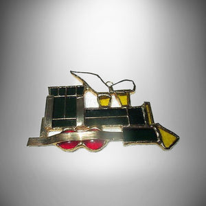 "Tiffany Stained Glass Heirloom Ornament ""CHOO CHOO"" Tiffany Collectors Society - Gramma-zon"