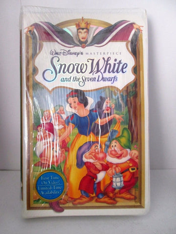 Disney Snow White and the Seven Dwarfs VHS 1994 Masterpiece Collection SEALED