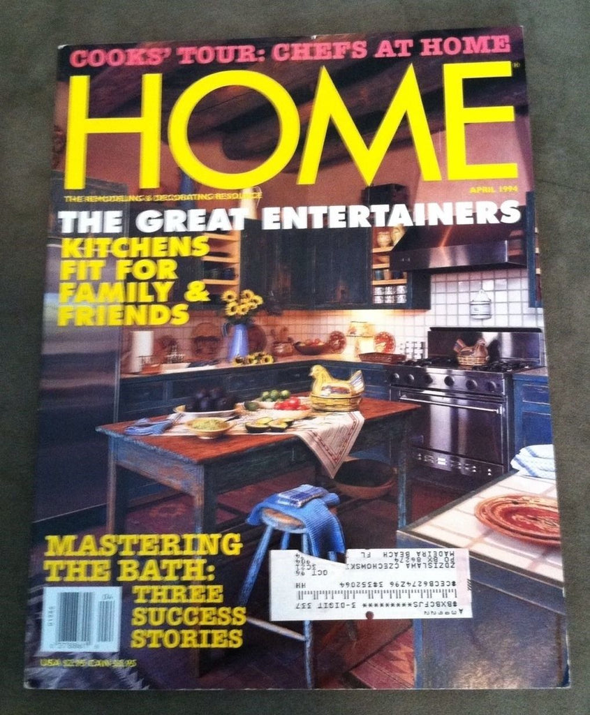 HOME MAGAZINE - April 1994 - The Great Entertainers